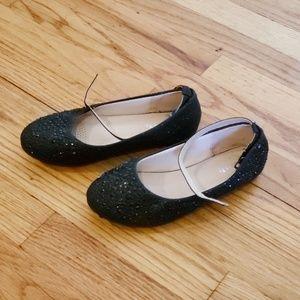 "Young Girl Black ""Sparkling "" Dress Shoe"
